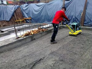 Baugrube Bodenplatte